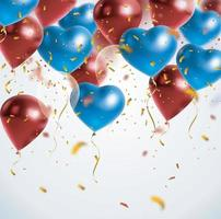 Festive background with helium balloons. vector