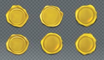 sello de cera de sello de oro vector