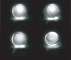 Energy bubble shields, shiny protection force fields. vector