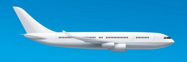 Modern passenger jet airplane side view. Vector EPS 10