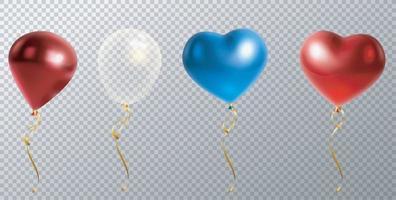 Foil air balloons set. vector