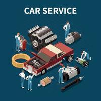 Car Service Concept Vector Illustration