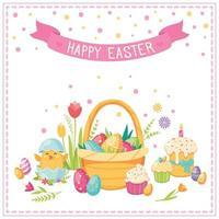 Easter Cartoon Concept Vector Illustration