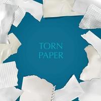 Ilustración de vector de marco de papel rasgado rasgado
