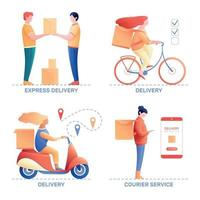 Delivery 2x2 Design Concept Vector Illustration