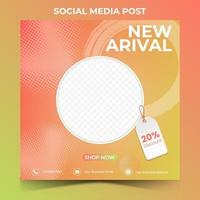 editable square banner template design. Suitable for social media post vector