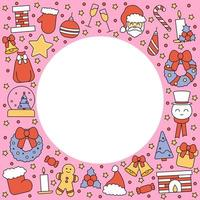 Pattern with place for text Christmas and Happy New Year vector