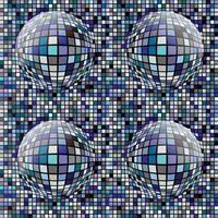 retro circle tile patterns vector