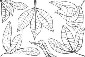 Leaves background design modern simple line art deco wallpaper. vector