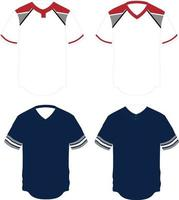 Pullover and two Button Jersey vector