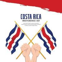 bandera de costa rica. celebraciones del día de la independencia. plantilla de banner. vector
