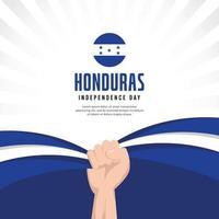 bandera de honduras. celebraciones del día de la independencia. plantilla de banner. vector