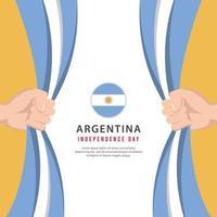 día de la independencia argentina. celebraciones del día nacional de argentina vector