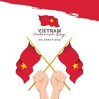 bandera de vietnam. celebraciones del día de la independencia. plantilla de banner. vector