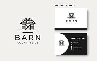 Barn Countryside Vintage Concept Logo Template vector