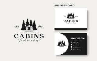 Cabin Vintage Concept Logo Template Isolated in White Background vector