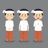 Myanmar Character with Various Expression vector