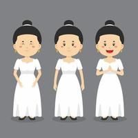 Philippines Character with Various Expression vector
