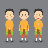 Thailand Character with Various Expression vector