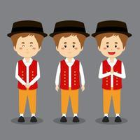 Swiss Character with Various Expression vector
