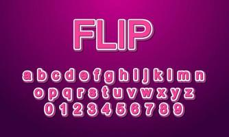 flip font alphabet vector