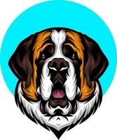 anidog illustration with solid color vector