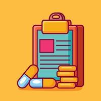 medic report concept symbol illustration vector