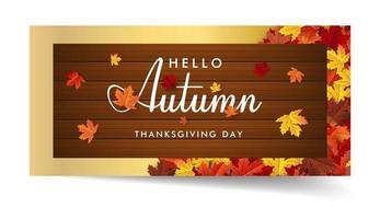 autumn maple leaf background banner vector