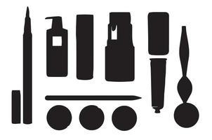 Silhouette Makeup Beauty Stencil vector