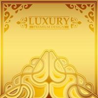 Fondo de patrón de ornamento de oro de lujo vector