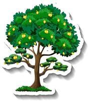 Lemon tree sticker on white background vector