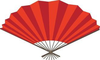 Japanese folding fan or hand fan isolated vector