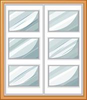 Simple window isolated on white background vector