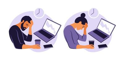 Professional burnout syndrome vector