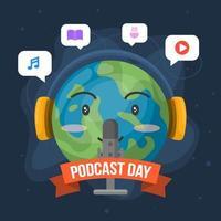 Podcast Day Celebration vector