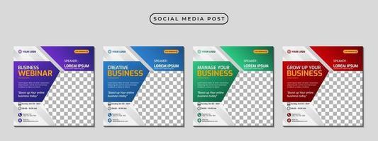 Set of social media stories post template concept design vector