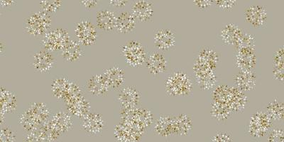 Light gray vector natural artwork with flowers.