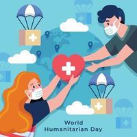 Celebrating World Humanitarian Day vector