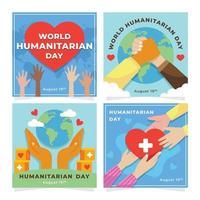 Humanitarian Day Celebrating Cards vector