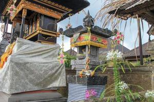 Family temple, a place of worship for Balinese Hindus photo