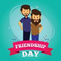 Poster of boys celebrates Friendship Day. vector