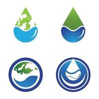 Drop logo template vector icon design