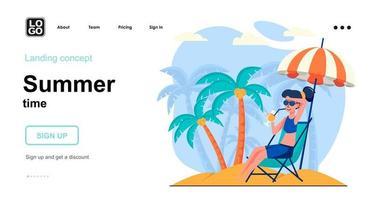 Summer time web concept vector