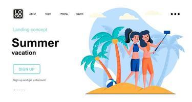 Summer vacation web concept vector