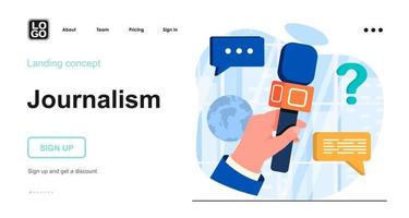 Journalism web concept vector