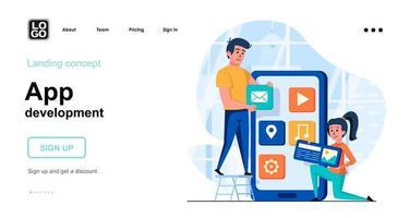 App development web concept vector