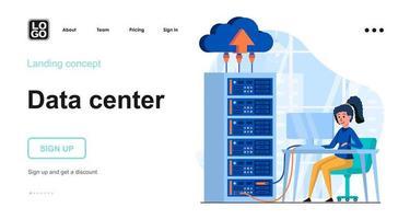 Data server web concept vector