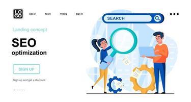 Seo optimization web concept vector
