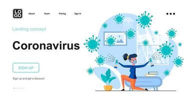Coronavirus web concept vector