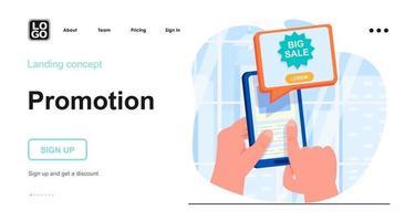 Promotion web concept vector